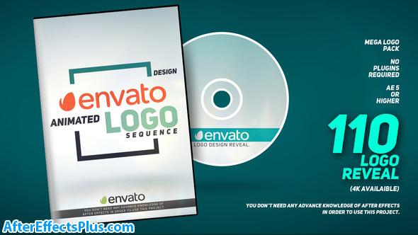 پروژه افتر افکت پکیج 110 لوگو متحرک - Videohive 110 Logo Pack
