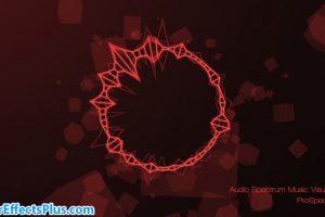 پروژه افتر افکت موزیک اکولایزر و موزیک پلیر – Audio Spectrum Music Visualizer