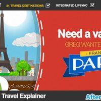 پروژه افتر افکت تیزر توضیح دهنده مسافرتی موشن گرافیک – Cartoon Travel Explainer
