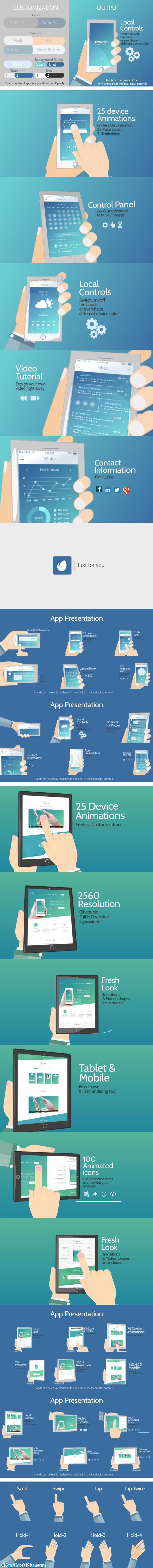 پروژه افتر افکت تبلیغ کارتونی اپلیکیشن موبایل - Cartoony App Promo