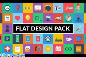 پروژه افتر افکت پکیج طراحی فلت – Flat Design Pack