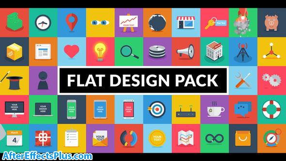 پروژه افتر افکت پکیج طراحی فلت - Videohive Flat Design Pack