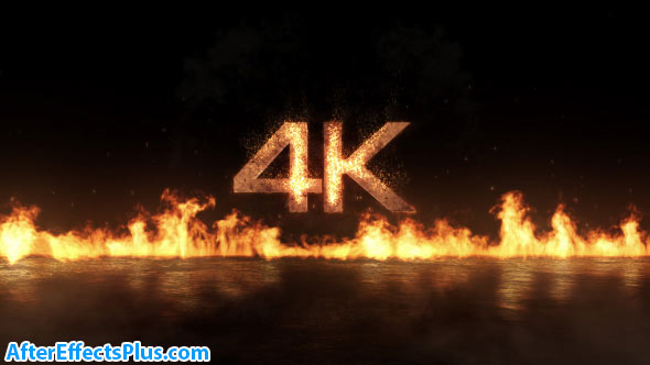 پروژه افتر افکت نمایش لوگو آتش در هوا - Videohive Fly-In Fire Logo