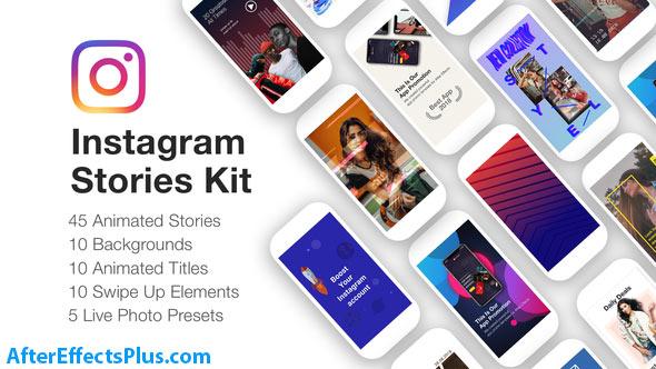 پروژه افتر افکت ابزار و پکیج استوری اینستاگرام - Instagram Stories Kit // Instagram Story Pack