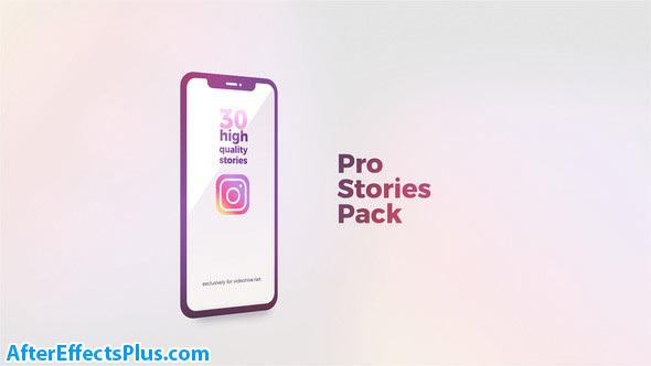 پروژه افتر افکت استوری حرفه ای اینستاگرام - Instagram Stories Pro