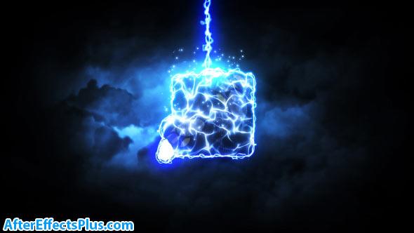 پروژه افتر افکت نمایش لوگو با افکت رعد و برق - Videohive Lightning Strike Reveal