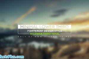 پروژه افتر افکت 14 زیرنویس ساده و شیک – Minimal Lower Thirds