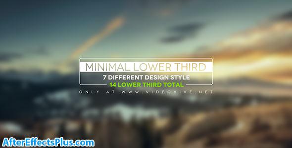 پروژه افتر افکت 14 زیرنویس ساده و شیک - Minimal Lower Thirds