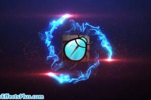 پروژه افتر افکت نمایش لوگو با افکت نور و انفجار – Particle Burst Logo Reveal