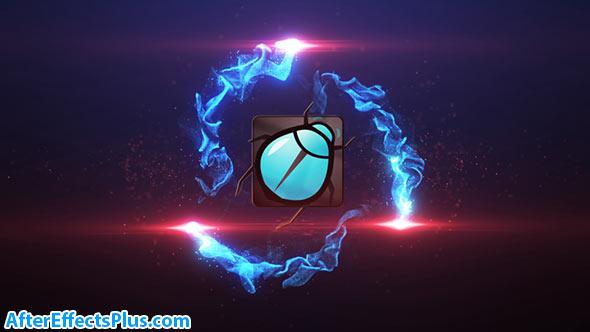 پروژه افتر افکت نمایش لوگو با افکت ذرات ریز - Particle Burst Logo Reveal
