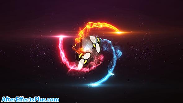 پروژه افتر افکت نمایش لوگو با افکت شلیک آتش - Particle Burst Logo Reveal