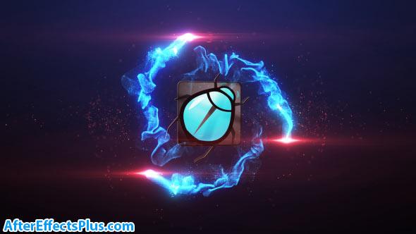 پروژه افتر افکت نمایش لوگو با افکت نور و انفجار - Particle Burst Logo Reveal