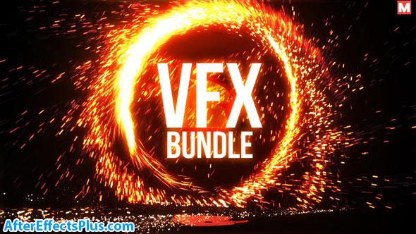 پروژه افتر افکت نمایش لوگو آتش بازی و پکیج جلوه های ویژه - Portal Logo VFX Bundle