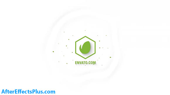پروژه افتر افکت نمایش لوگو فلت با چکیدن قطره آب - Simple Flat Logo Reveal