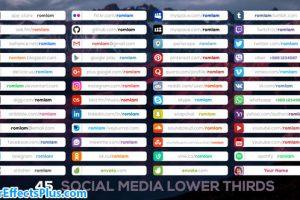 پروژه افتر افکت زیرنویس شبکه های اجتماعی – Social Media Lower Thirds