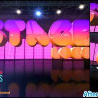 پروژه افتر افکت نمایش لوگو روی استیج – Stage Logo