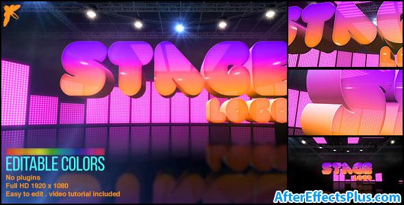 پروژه افتر افکت نمایش لوگو روی استیج - Videohive Stage Logo