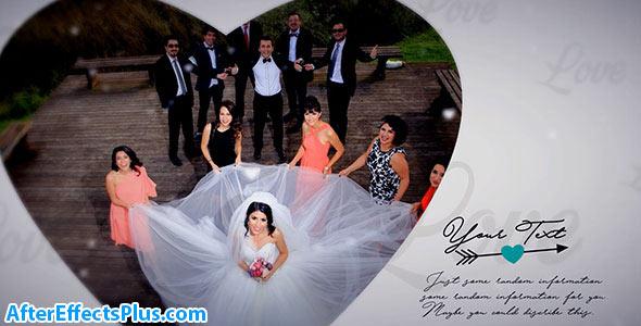 پروژه افتر افکت آلبوم عکس عروسی و عاشقانه - Wedding Album