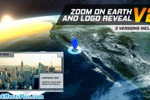 پروژه افتر افکت اینترو بزرگنمایی روی کره زمین – Zoom On Earth And Logo Reveal V2