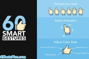 پروژه افتر افکت 60 حرکت دست انیمیشنی موشن گرافیک – 60 Smart Gestures