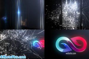 پروژه افتر افکت نمایش لوگو با شکستن شیشه – Abstract Glass Shatter Logo Opener