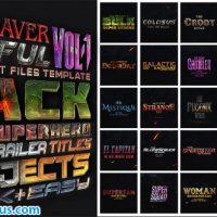 پروژه افتر افکت پکیج متن سه بعدی – Avengers SuperHeroes Pack