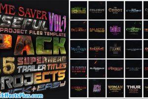 دانلود پروژه افتر افکت پکیج متن سه بعدی – Avengers SuperHeroes Pack