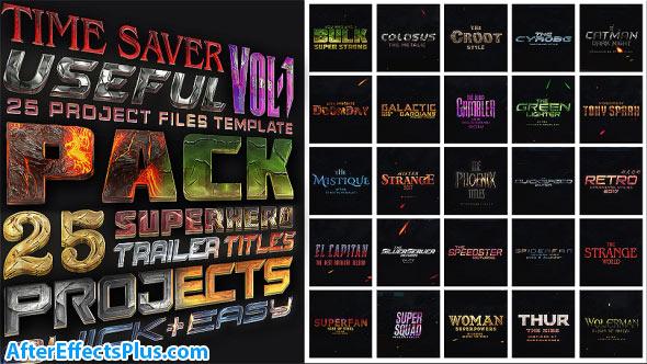 دانلود پروژه افتر افکت پکیج متن سه بعدی - Avengers SuperHeroes Pack