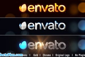 پروژه افتر افکت نمایش لوگو با افکت طلا ، نقره و کروم  – Chrome Logo Reveal
