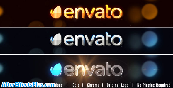 پروژه افتر افکت نمایش لوگو با افکت طلا ، نقره و کروم - Chrome Logo Reveal