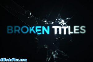 پروژه افتر افکت متن و عنوان ترک خورده – Cinematic Cracked Titles