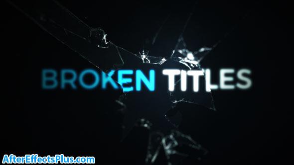 پروژه افتر افکت متن و عنوان ترک خورده - Cinematic Cracked Titles