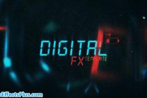 پروژه افتر افکت متن دیجیتال سینمایی – Cinematic Sci-Fi Titles