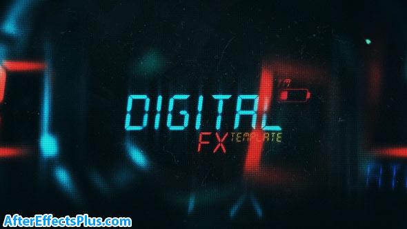 پروژه افتر افکت متن دیجیتال سینمایی - Cinematic Sci-Fi Titles