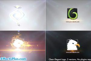 پروژه افتر افکت نمایش لوگو برش های نازک سه بعدی – Clean Elegant Logo
