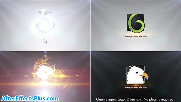 پروژه افتر افکت نمایش لوگو برش های نازک سه بعدی - Clean Elegant Logo