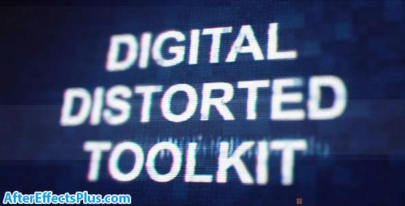 پروژه افتر افکت ابزار پارازیت و نویز دیجیتال - Videohive Digital Distorted Toolkit