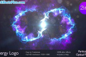 پروژه افتر افکت نمایش لوگو پرتو انرژی در دو ورژن – Energy logo 2 in 1