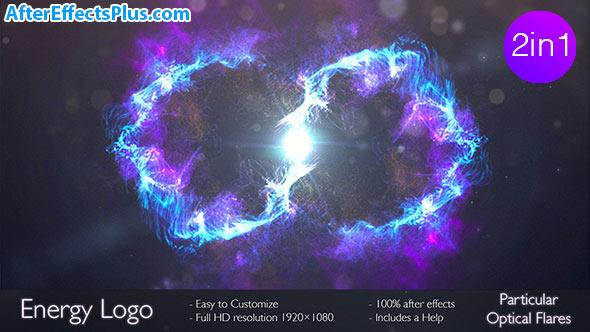 پروژه افتر افکت نمایش لوگو پرتو انرژی در دو ورژن - Energy logo 2 in 1