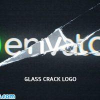 پروژه افتر افکت نمایش لوگو با شکستن صفحه شیشه ای – Glass Crack Logo