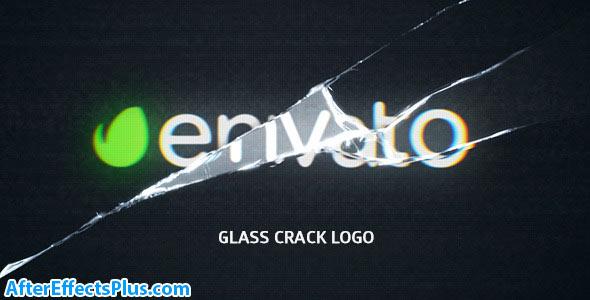 پروژه افتر افکت نمایش لوگو با شکستن صفحه نمایش - Glass Crack Logo