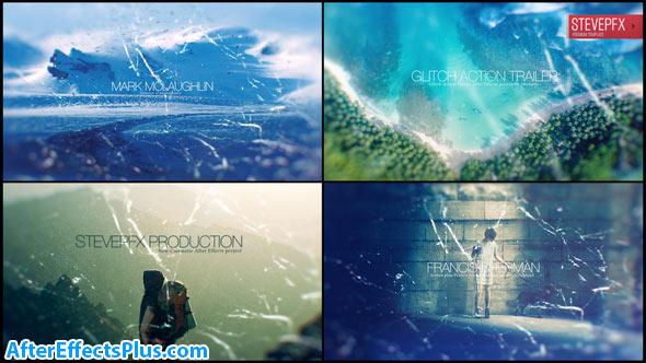 پروژه افتر افکت تریلر و اینترو اکشن با افکت پارازیت - Glitch Action Trailer