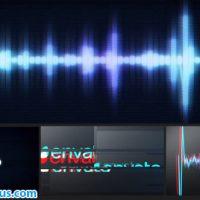 پروژه افتر افکت نمایش لوگو موزیک ویژوالایزر با افکت نویز – Glitch Logo Music Visualizer