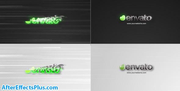 پروژه افتر افکت لوگو مینیمال با افکت قطعی سیگنال - Glitch Minimal Logo