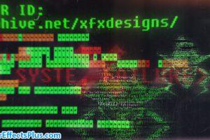 پروژه افتر افکت نمایش لوگو هکر – Hacker Logo