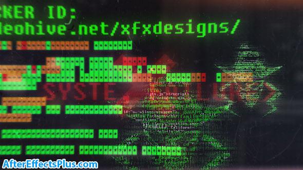 پروژه افتر افکت نمایش لوگو هکر - Hacker Logo