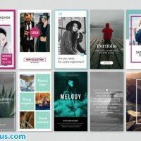پروژه افتر افکت پکیج مینیمال استوری اینستاگرام – Instagram Stories Minimal Pack