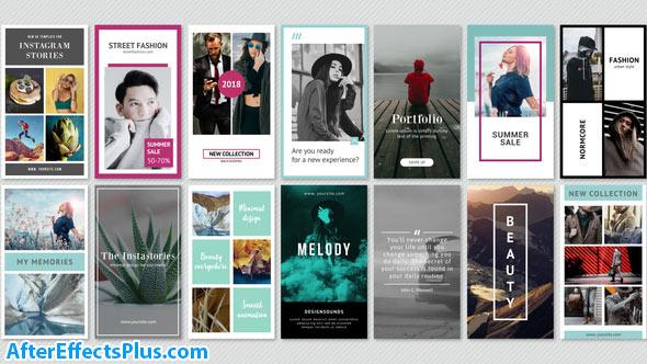 پروژه افتر افکت پکیج مینیمال استوری اینستاگرام - Instagram Stories Minimal Pack
