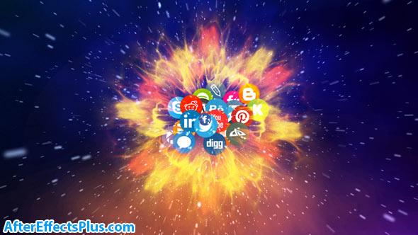 پروژه افتر افکت نمایش لوگو شبکه ارتباطی و اجتماعی - Network Logo Reveal