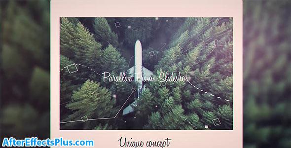 پروژه افتر افکت اسلایدشو پارالاکس فریم دار - Parallax Frame Slideshow
